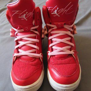 Girls Air Jordan FLT 45 Hi Prem GS Gym Red Sz 7Y